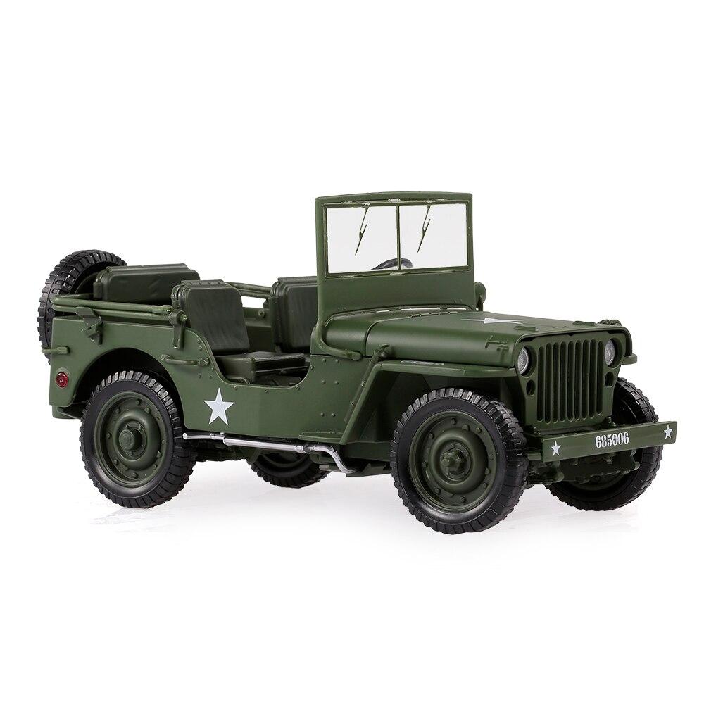1/18 Militaire Jeep Speelgoed Auto Militaire Tactiek Auto Model Militair Voertuig Willys Miniatuur Replica Collecties Een Lang Historisch Aanzien Hebben