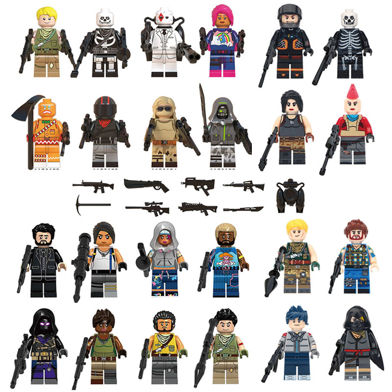 New Legoinglys Fortnight Game Fortress Night Minifigure Battle Royale Action Figures Building Blocks Bircks Toys For Kids GiftsNew Legoinglys Fortnight Game Fortress Night Minifigure Battle Royale Action Figures Building Blocks Bircks Toys For Kids Gifts