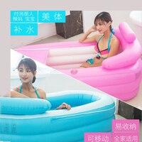 Eco Friendly PVC Material Folding Adult Inflatable Warm Sauna Bath Tub with Electric Pump