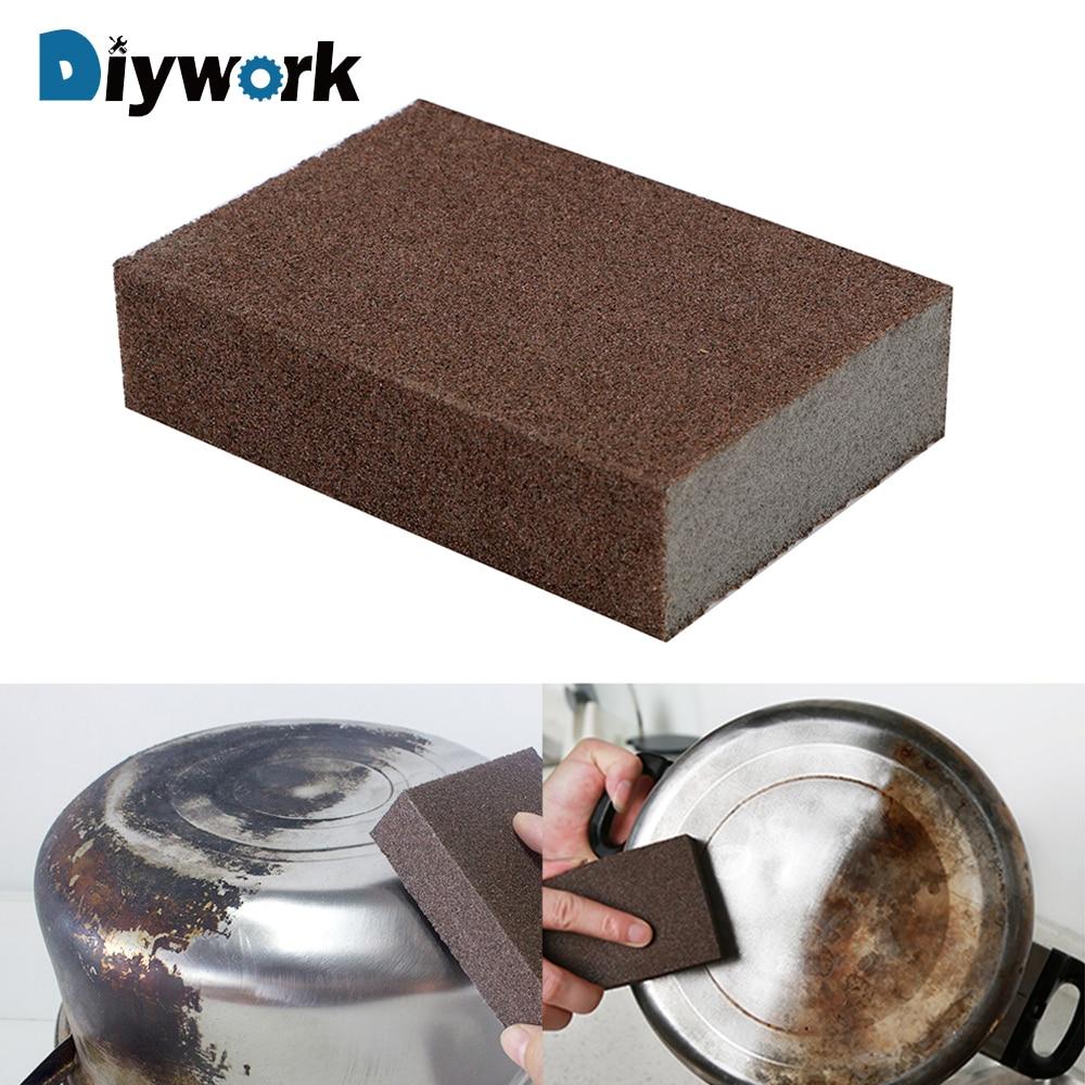 DIYWORK Descaling Clean Rub Brush Pot Removing Rust Fine Sand Sponge Nano Sponge Emery Sponge Cleaning Cotton Magic Eraser