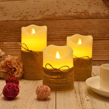 Candle Tea Light Battery Powered Lamp Simulation Color Flame Flashing Home Wedding Birthday Party Decoration Candles недорого