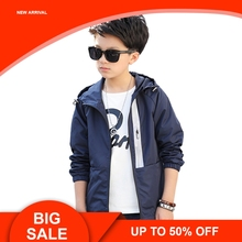Children Outerwear Kids Sporty Solid color Jackets Double-deck Waterproof Windproof Boys For 5-15 Years Old