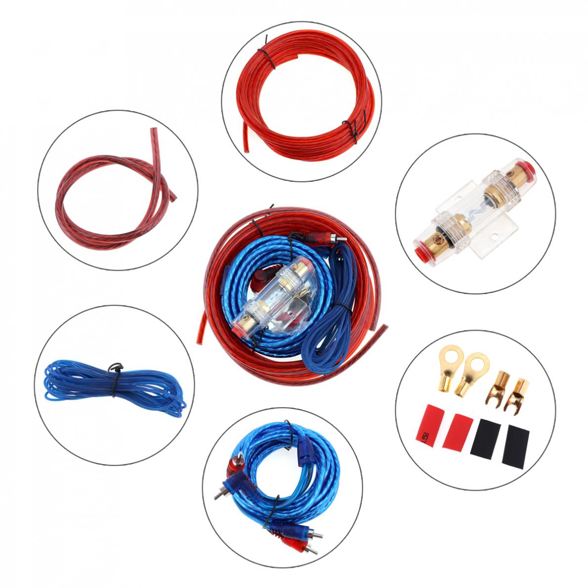 small resolution of car auto audio power amplifier car subwoofer speaker installation wiring kits cables car audio line power