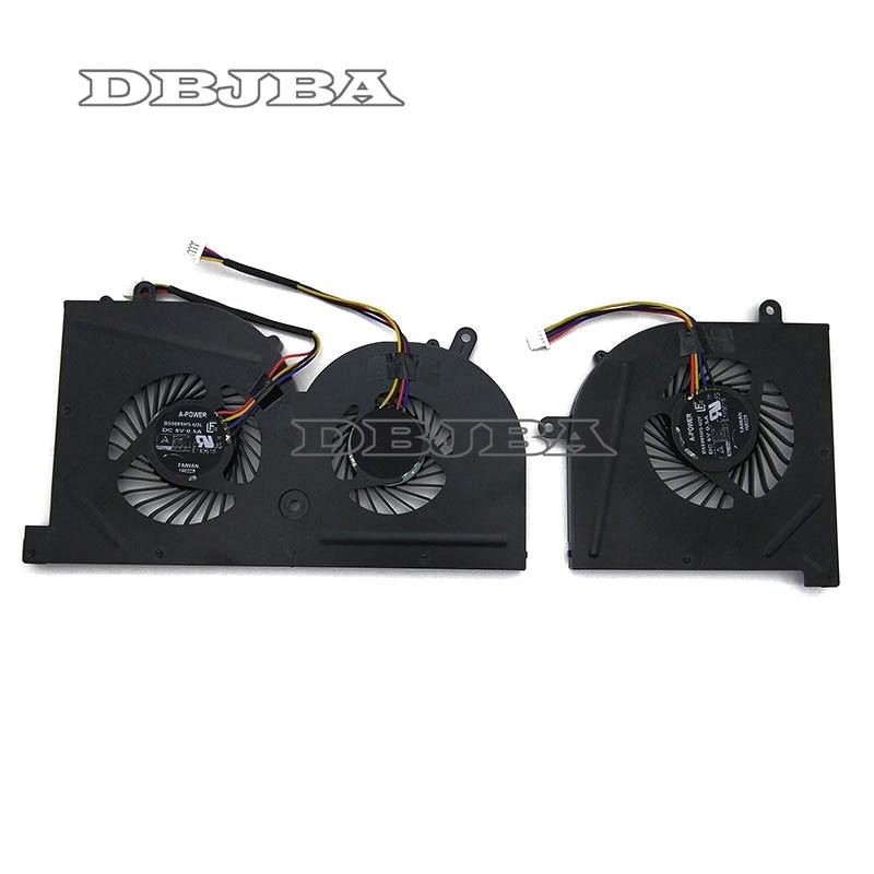 Nouveau CPU + GPU Ventilateur POUR MSI GS63 GS63VR GS73 GS73VR MS-16K2 MS-17B BS5005HS-U2L