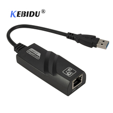kebidu USB Ethernet Adapter Network Card USB 3.0 to RJ45 Lan Gigabit Internet 10/100/1000 Mbps for Computer for Macbook Laptop