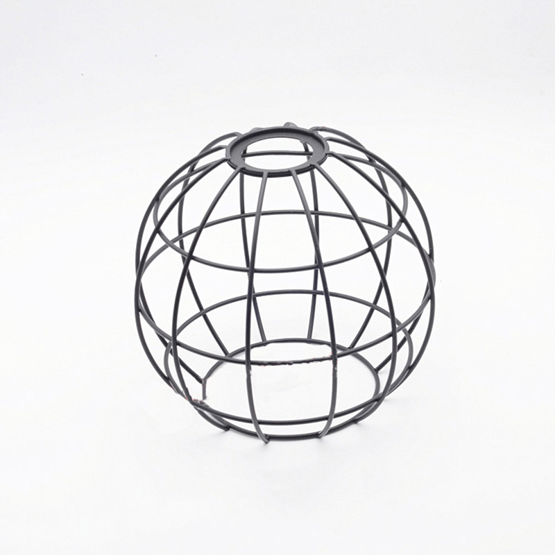 Iron Lampshade Bulb Cover Vintage Pendant Light Bulb Guard Wire Cage Ceiling Hanging Lampshade DIY Home Decoration|Lamp Covers & Shades| |  - title=