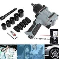 Professional 1/2 inch Air Impact Wrench Pneumatic Socket Set Compact Gun Adjustable power Regulator Car Tire Repair Hand Tool