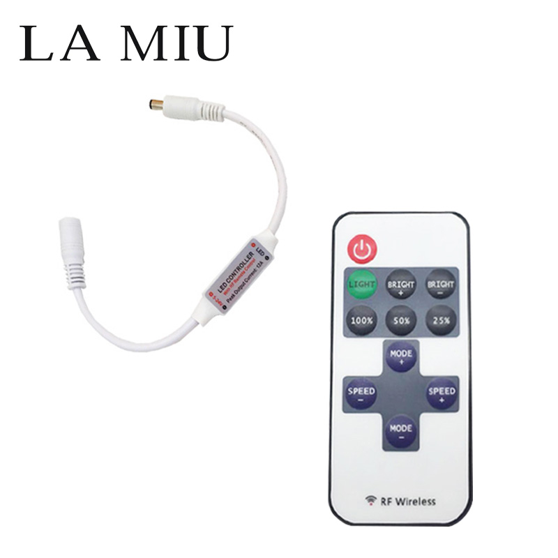 Mini Led Rgb Controller Rf 11 Key Led Remote Controller Led Dimmer Dc 5v 24v For Single Color String Led Strip 2835 5050