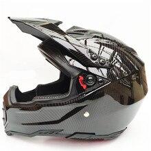 Carbon Fiber Full Face moto Racing Helmet DOT Outdoor Adult Full Face MX