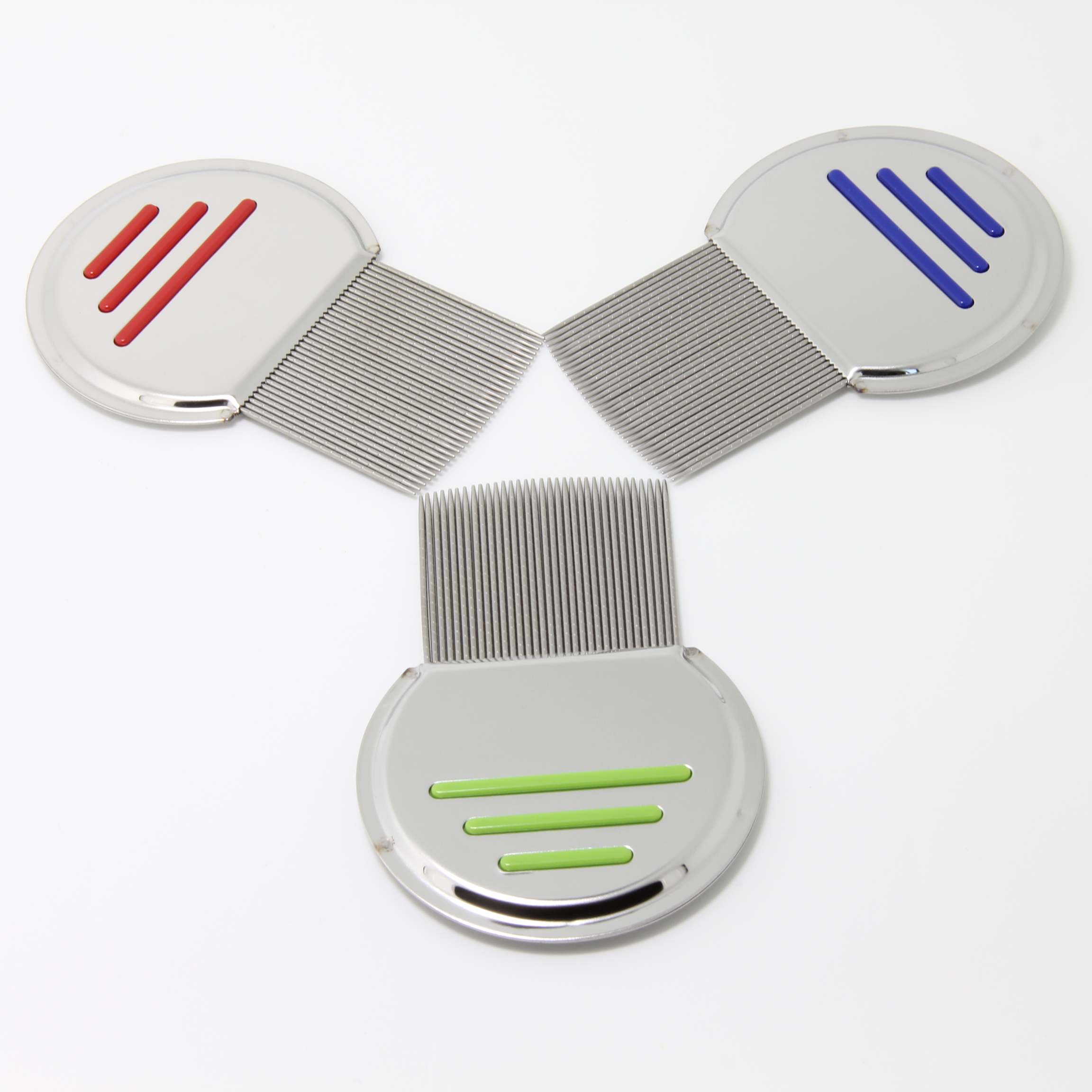 3 pcs Combs set Terminator Lice Comb Nit Free Kids Hair Rid Head lice stainless steel Metal Teeth in Combs from Beauty Health