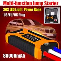 88000mAh High Capacity Car Jump Starter 600A 12V Portable Power Bank Car Starter For Car Battery Booster Charger Starting Device