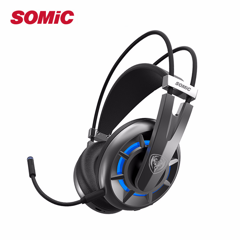 SOMIC G939Air Virtual 7 1 Gamer Gaming Headset Wireless Headphone with Detachable Mic 20h Long Time