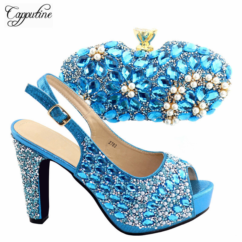 Italian Elegant Shoes With Bag To Match Set Large Size 38-42 High Quality African High Heels Shoes And Bag Set For Party TX-783Italian Elegant Shoes With Bag To Match Set Large Size 38-42 High Quality African High Heels Shoes And Bag Set For Party TX-783