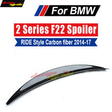 F22 F20 Tail Rear Trunk Spoiler Lip Wing Ride style Carbon fiber For BMW 220i 228i 230i 235i 14+