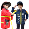 Детский полицейский пожарный Одежда Аксессуары для инструментов карьера Косплей Костюм нарядная игрушка