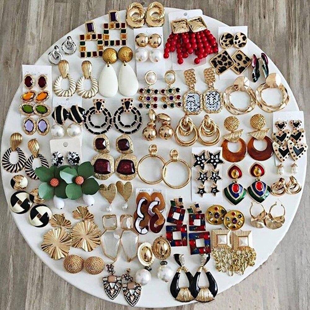 Flatfoosie Fashion ZA Dangle Earrings For Women Good Quality Jewelry Crystal Vintage Wedding Party Long Drop Earring Wholesale