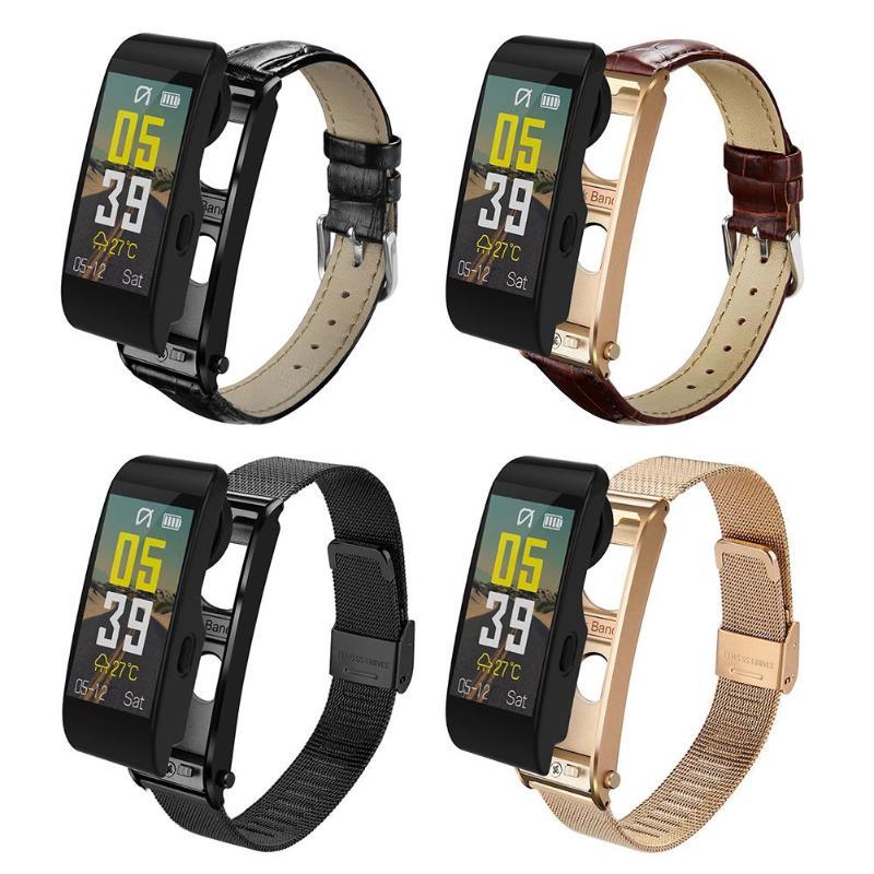 ALLOYSEED Bluetooth Смарт часы браслет громкой связи вызова музыкальный плеер Спорт гарнитура фитнес трекер сердечного ритма мониторы