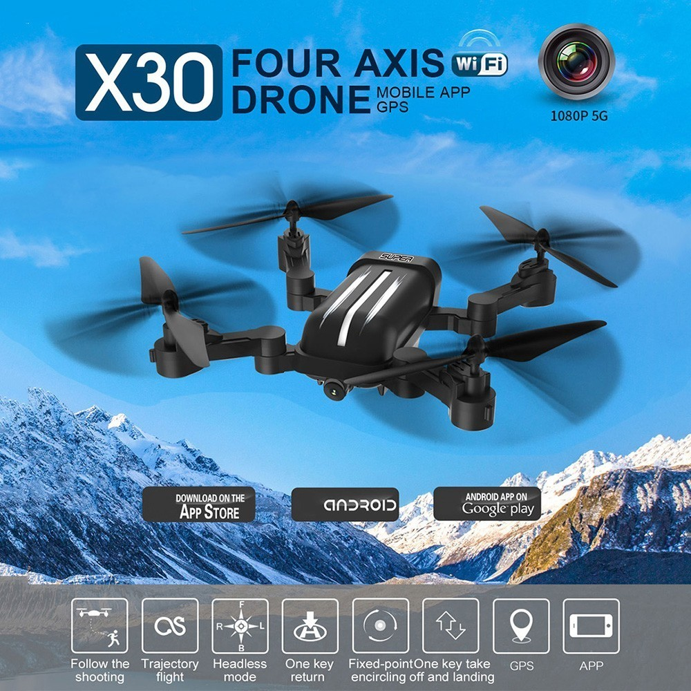 BAYANGTOYS X30 RC Drone 2.4G With 8MP 5G 1080P WiFi FPV HD Camera GPS Drone Aircraft Folding Remote Control Dron Children ToysBAYANGTOYS X30 RC Drone 2.4G With 8MP 5G 1080P WiFi FPV HD Camera GPS Drone Aircraft Folding Remote Control Dron Children Toys