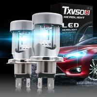 Txvso8 Car Lights H4 led Flip Chip 6000K Up to 50000 Hours Service Life.car accessories LED H4 Fog Light 12V/24V Auto Headlamp