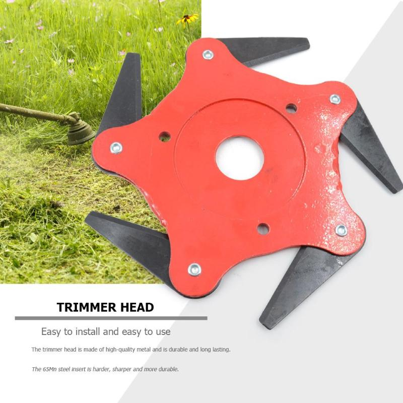 Garden Lawn Mower Blade Manganese Steel Grass Trimmer Brush Cutter Head High Hardness Sharper More Durable Easy To Install Packing Of Nominated Brand Garden Tools Tools