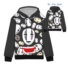 Hot  Anime Spirited Away No Face Man Cosplay Hoodies Standard Hooded Winter Tops Unisex funny Sweatshirts