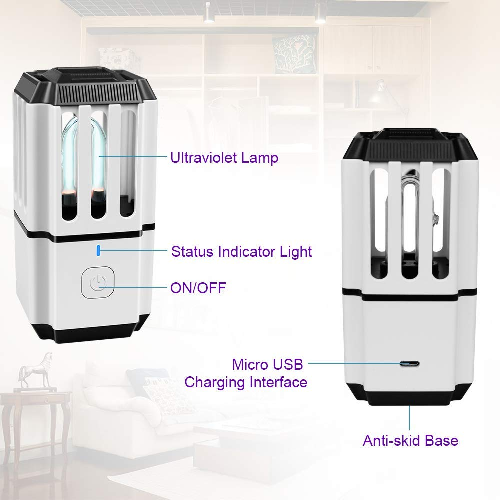 Small Air Conditioning Appliances Uv Sterilizer Disinfection Lamp Uv Light Air Sanitizer Bacteria Germs Virus Dust Mite Eliminator Home Wardrobe Shoe Cabinet To