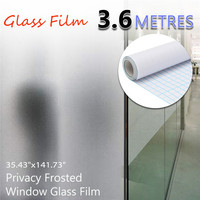 90cmx3.6m Frosted Window Tint Glass Privacy PVC Film For DIY Home/Office/Store Environmental PVC Static Film