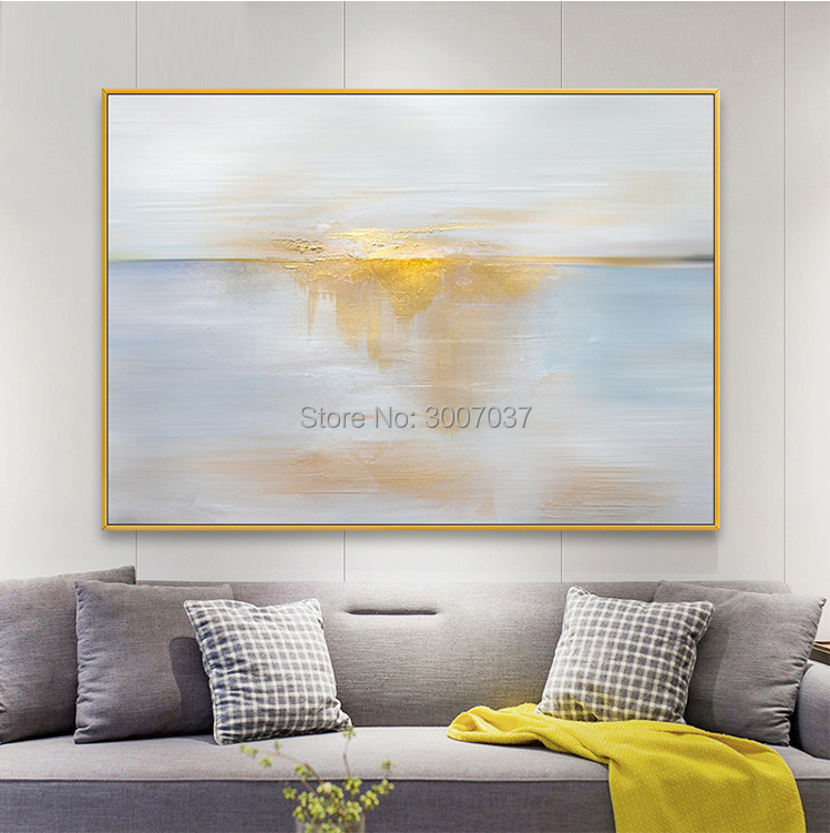 Pop Hand-painted High Quality Modern Gold and Blue Abstract Oil Painting on Canvas for Living Room Decor Abstract Wall PaintingPop Hand-painted High Quality Modern Gold and Blue Abstract Oil Painting on Canvas for Living Room Decor Abstract Wall Painting