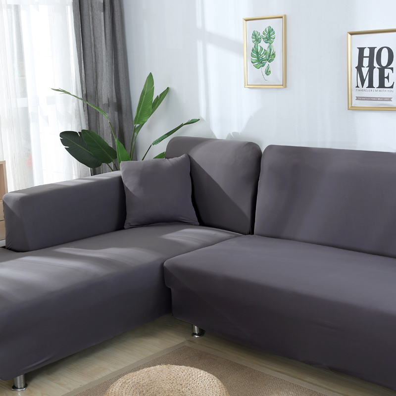 Image 5 - Grey Color Elastic Couch Sofa Cover Loveseat Cover Sofa Covers for Living Room Sectional Sofa Slipcover Armchair Furniture Cover-in Sofa Cover from Home & Garden