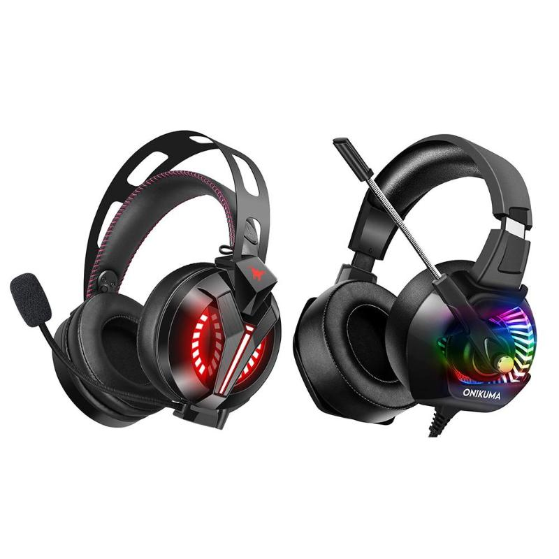 ONIKUMA K6 Wired Gaming Headset Stereo Headphones with Mic LED for font b PC b font