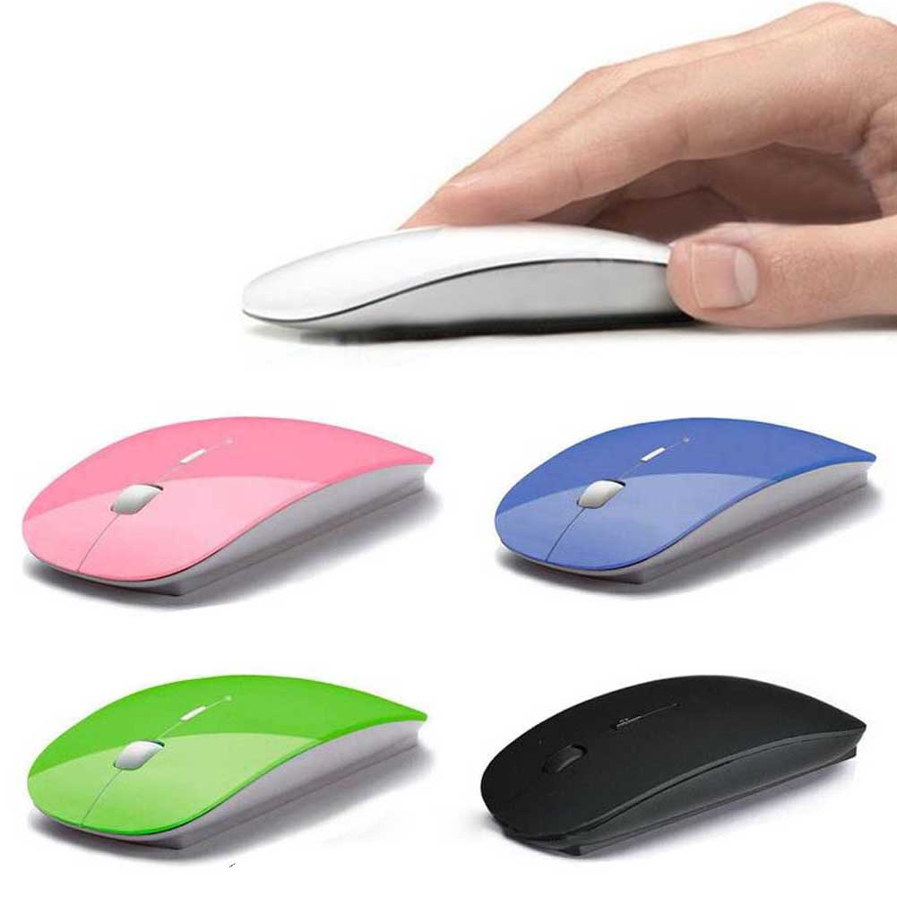 Computer Mouse Mice For Laptop Notebook! Ultra Thin 2.4G Optical Wireless Mouse USB Receiver Air Mouse Cordless