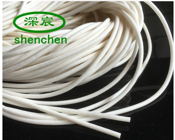 10 Meters Silicone Rubber Foam Cord Diameter 4mm Top Quality White Rubber Foam Rod Good Sealing Material