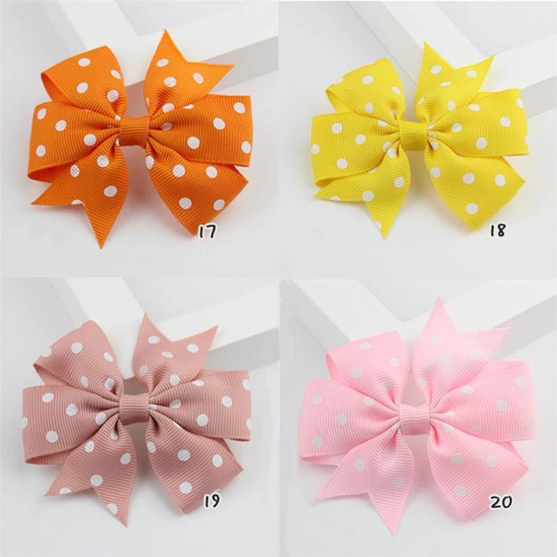 40Pcs Dovetail Wave Point Bow Hairpin Hair Barrettes Stylish Bows Pins Hari Clips Clothing Accessories For Toddles Girls in Hair Accessories from Mother Kids