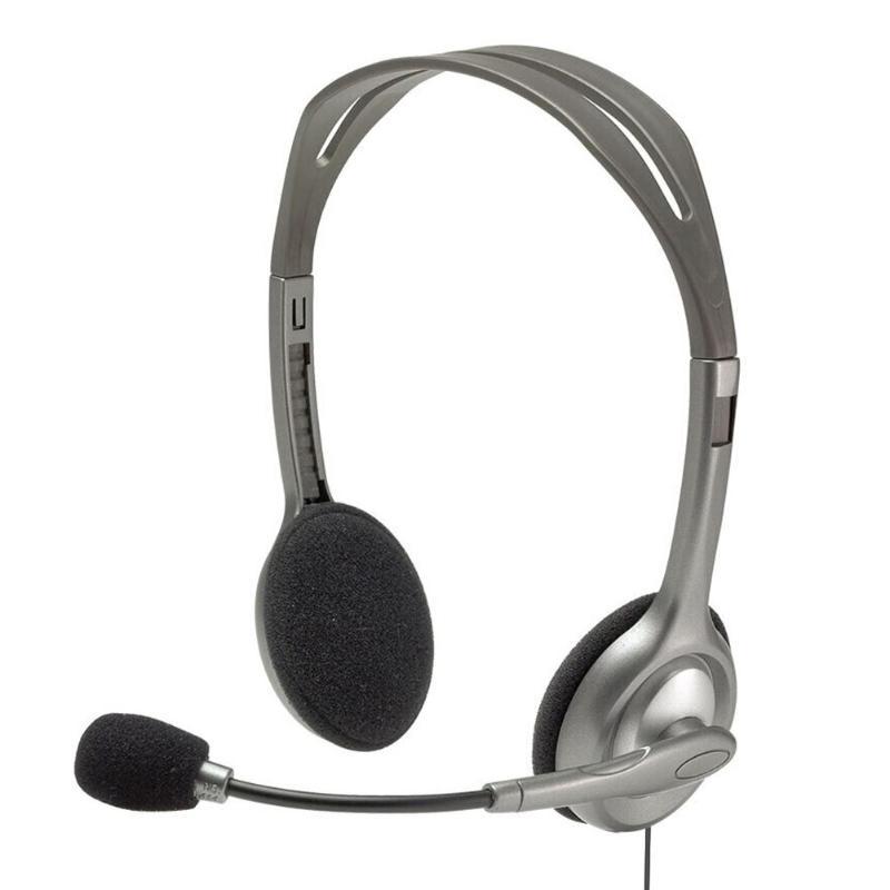Auriculares Estéreo Logitech H110/h111 Con Micrófono Auriculares Con Cable De 3,5mm Para Aclarar La Molestia Y Calmar La Sed