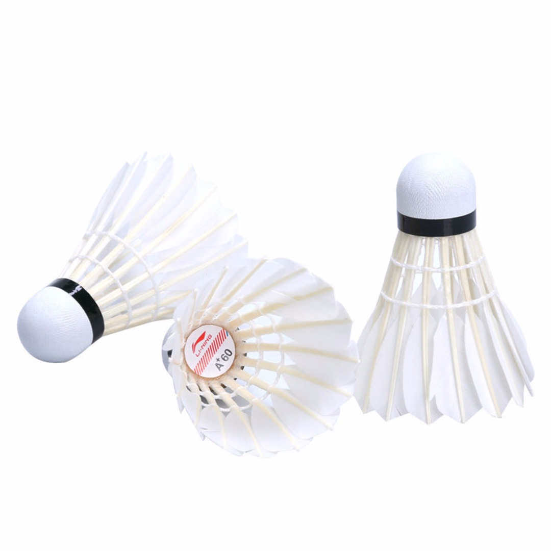 15Pcs Badminton Shuttlecocks Durable Goose Feather Shuttlecocks Badminton Balls With Tube Outdoor Sports Badminton Accessories in Shuttlecock from Sports Entertainment
