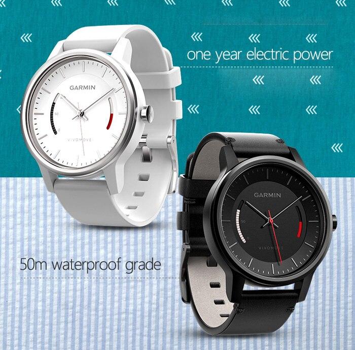 Garmin Vivomove Smartwatch 50 m étanche BT4.0 Calories enregistrement rappel sédentaire réglage des objectifs bracelet de barre de progression