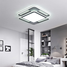 Black Modern Led Ceiling Lights Iron Surface Mounted Lamp For Living Room Dining Lamparas De Techo Avize