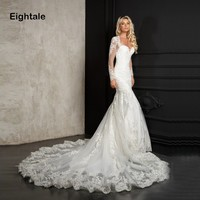 Eightale Lace Wedding Dress Sweetheart Mermaid Bride Dress Long Sleeve Backless Romatic Wedding Gowns vestidos de novia 2019