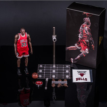 838b4f19501669 22cm NBA basketball star Michael Jordan 23 red 1 9 DOLL Action Collectible  Statue Toy