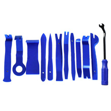 Car Panel Removal Open Pry Tools Kit Dash Door Radio Trim Pump Wedge 12 Pcs