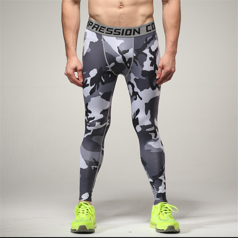 Spot Camouflage Gym Pants Male Stretch Quick-Drying Sweatpants Running Riding Basketball Exercise Leggings