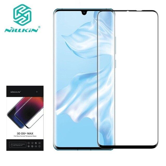 NILLKIN 3D DS + MAX koruyucu ekran koruyucu için Huawei P30 Pro 9D kenar güvenlik temperli cam 6.2 inç