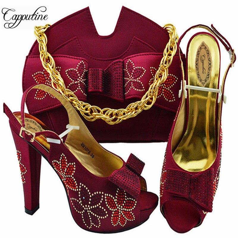 f776708db72653 peach Et vert argent 5 Chaussures Femme Mode Talons Classiques  Correspondant Pu Africain Ciel or Ensemble pourpre M1078 Partie Hauts 2019 fuchsia  wine Cm ...