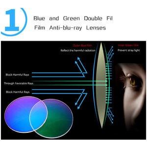 Iboode نظارات للقراءة الرجال مكافحة الأزرق الأشعة الشيخوخي النظارات انتيفاتيغي الكمبيوتر نظارات مع + 1.5 + 2.0 + 2.5 + 3.0 + 3.5 + 4.0