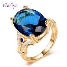 Nasiya новый дизайн Оригинальное кольцо золотого цвета кольца