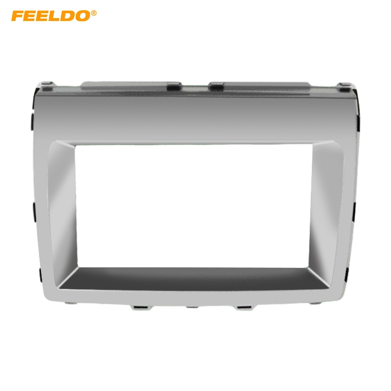 FEELDO 2DIN Car Stereo Radio Fascia Frame For For Mazda MPV 2006+ Mazda 8 Audio Interface Plate Panel Dash Trim Kit #5013 image