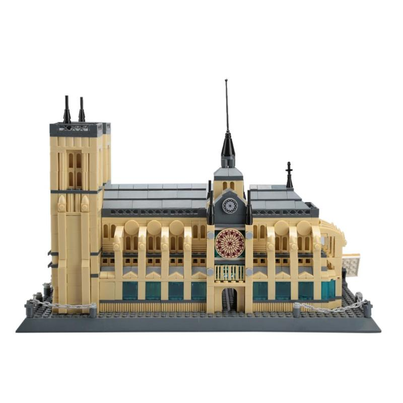 Architecture Notre Dame Cathedral Of Paris Building Blocks Classic Memory Model Bricks Toys For Home Decoration