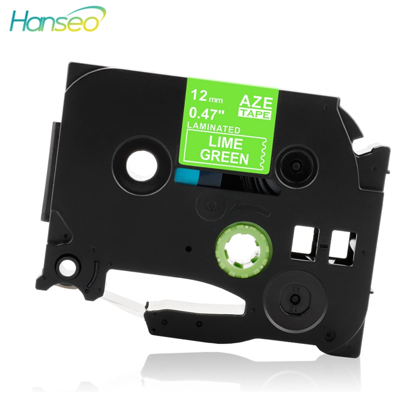 Hanseo TZe-MQG35 P-touch Tape 12mmx5m compatible for Brother P Touch Laminated White on Line Green TZe MQG35 printer Label MakerHanseo TZe-MQG35 P-touch Tape 12mmx5m compatible for Brother P Touch Laminated White on Line Green TZe MQG35 printer Label Maker