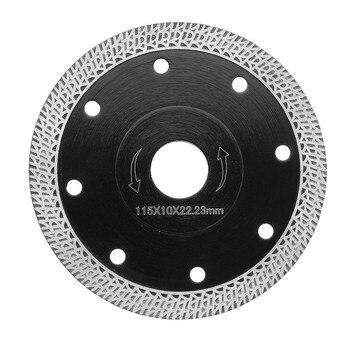 1 шт. 4,5 дюйма 115 мм Алмазная пила Лезвие горячего прессования Спеченная сетка турбо ультра-тонкое лезвие для керамической обработки