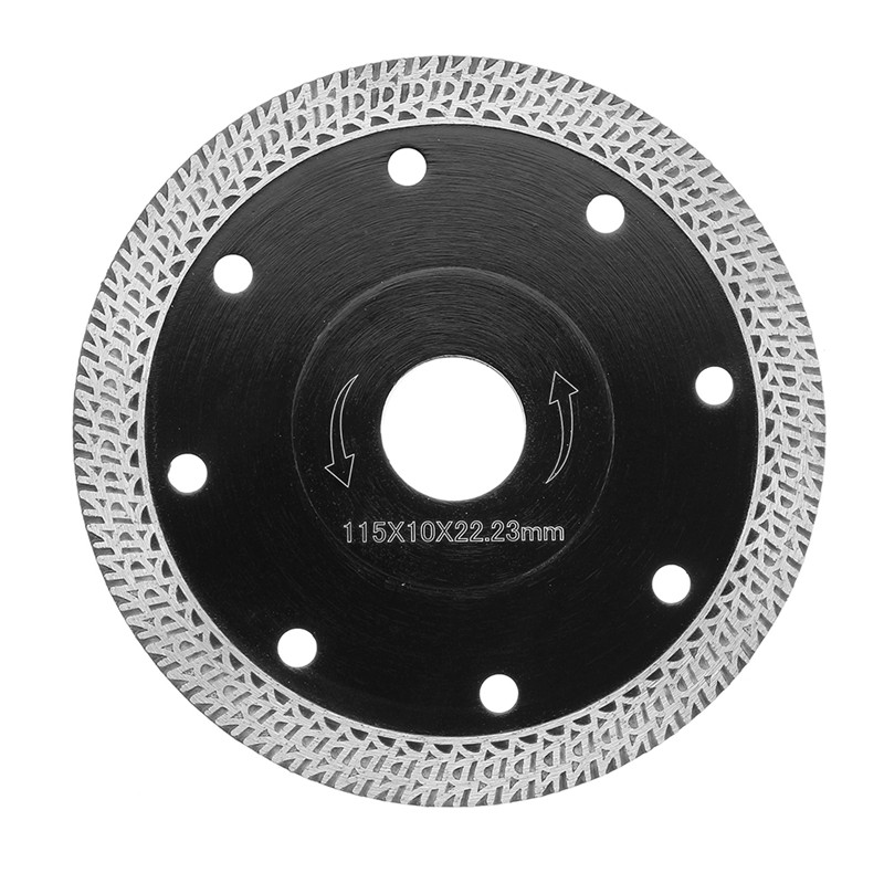 1Pc 4.5 Inch 115mm Diamond Saw Blade Hot Pressed Sintered Mesh Turbo Ultra-Thin Saw Blade For Ceramic Workings